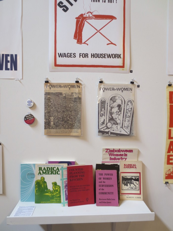 Image of Feminist Documents at the Work Stoppage Exhibition