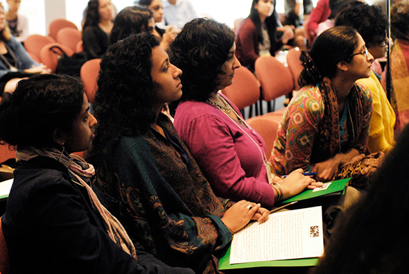 Women from Sakhi at the Summit Preventing Violence