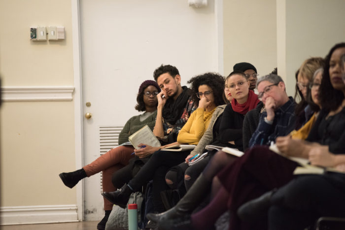 Row of students at Hortense Spillers talk