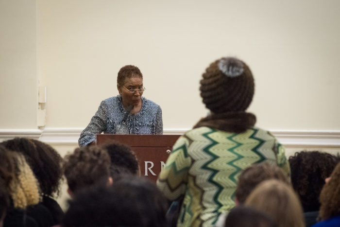 Hortense Spillers answering a question