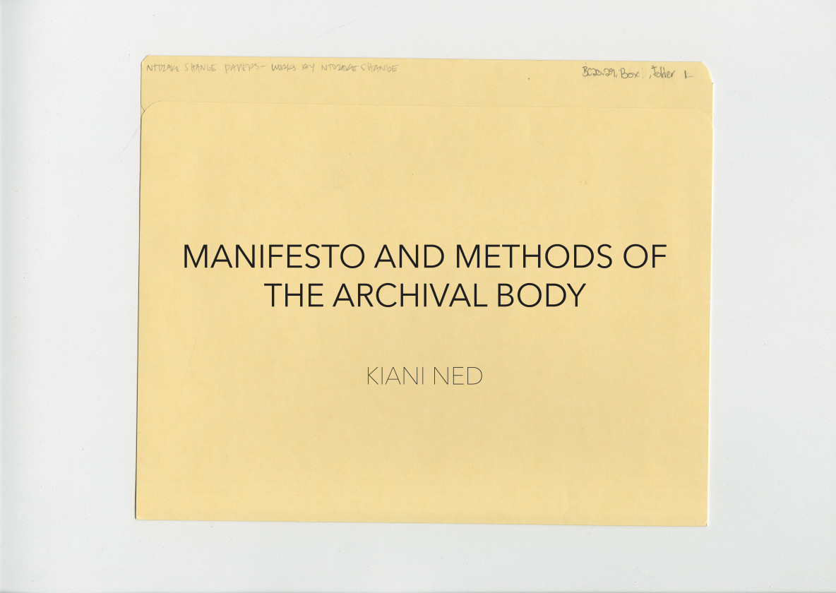 MANIFESTO AND METHODS OF THE ARCHIVAL BODY