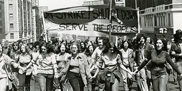 Barnard College Students on Strike 1972